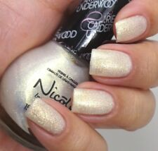 Nicole OPI Carrie Nail Polish SING YOU LIKE A BEE U08 White Gold Fleck Wedding
