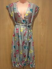 NEW Fornarina Lilli Dress 100% Silk Size Medium (UK 12) White Black Hairdryers