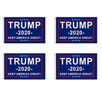 4-Pack Trump 2020 Flag Keep America Great President Donald Trump 3x5 Ft Flag USA