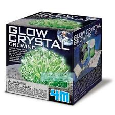 4M Glow-In-The-Dark Crystal Growing Chemistry Experiment Kit Fun School Kids Act