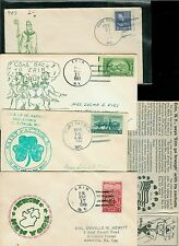 St. Patrick's Day 50 Year Collection of 34 Cachets 1949-1999 Erin NY + Missouri