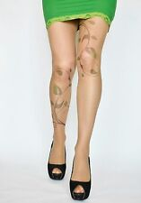Poison Ivy Tattoo Tights , Poison Ivy Costume, Hand printed  Pantyhose