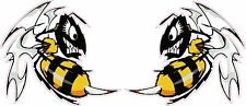 "Ski Doo-Killer Bees Large Decal Pair is 6"" x 5"" each in size"