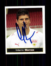Mario Gomez VFB Stuttgart Panini Sammelbild 2007-08 Original Signie+ A 136091
