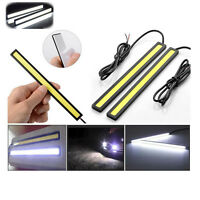 2x…Waterproof Car DRL Fog LED Lights Strip Daytime Running COB Bright Drive Lamp