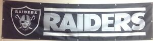 Large Oakland (Las Vegas) Raiders Banner 2'x8'  Ships Free And Quickly From N.C.
