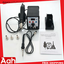 8786D 2in1 Soldering Station ESD Iron Welder Hot Air Gun Desolder Tool Kits SMD