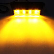 2X 4 LED COB Emergency Warning Hazard Dash Deck Beacon AMBER Strobe Light Bar