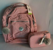 "Kipling Seoul Extra Large 17"" Laptop Backpack And Matching 100 Pens Case"