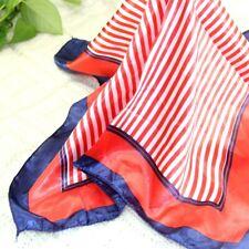 Vintage Elegant Designs Silk Satin Feel Ladies Small Square Head / Neck Scarf 01