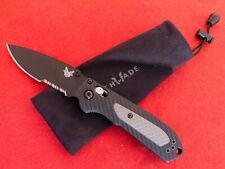"Benchmade 560SBK Freek Folding Knife 3.6"" Black S30V Combo Grivory & Versaflex"