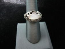 Moonstone Ring Size 7 Sterling Silver Filigree Setting Dome 1cm Solid  925 New