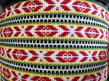 Swedish Hand Woven Ribbon Folk Art Trim Scandinavian Per Yard