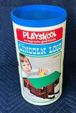 Vintage Playskool Original Lincoln Logs - Scout Set - 1974 Excellent Condition