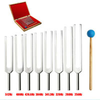 8 Tuning Fork Set Medical Surgical Physical Diagnostic instruments With Wood  ❤