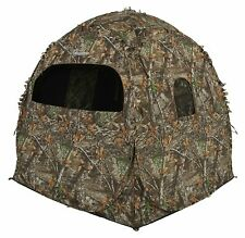 AMEBL1002 Doghouse Hunting Ground Blind, Patented 3D Edge ReLeaf camo pattern