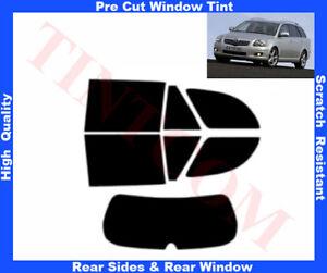 Toyota Avensis 5D Est 07-09 Pre-Cut Window Tint 5%-50% Rear Window & Rear Sides