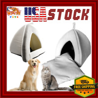 Cave Bed for Dog / Cat / Rabbit Small Medium Pet House + Pillow MACHINE WASHABLE