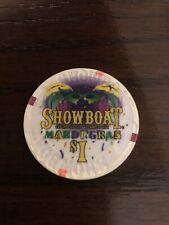 New listing $1 Showboat Casino Chip Atlantic City New Jersey