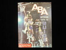 1974-75 TSN Official ABA Media Guide-Dr J Cover