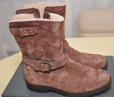 UGG Australia W 1003883 Western Suede Leather Boots Sheepskin Chocolate Brown  7