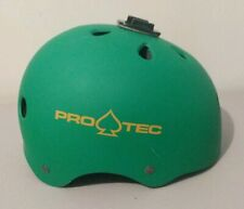 Pro-Tec Classic Skate Helmet Matte Green Size S 54-56 Cm w/ Go Pro Attachment