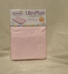 Summer Ultra Plush Changing Pad Cover NIB Baby Pink Machine wash