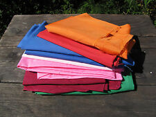 Sewing Fabric Lot of Assorted Solid Colors Lining Crafts Quilting 2.8 lbs