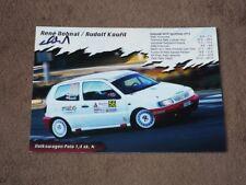 Rene DOHNAL - original autogramm, (2012) VW Polo, Karte/card cca 13x18 cm