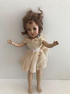"Vintage R & B Arranbee Hard Plastic Doll Red Hair 14 1/2"""