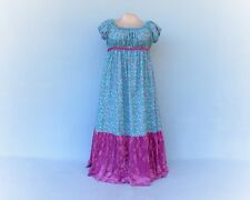 Plus size Handmade Empire Dress, Regency dress with floral print and pink velvet