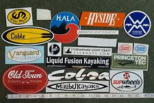 lot of 19 kayak stickers old town canoe water master werner SUP atx rack attack
