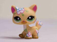 Littlest Pet Shop LPS  #1582 postcard flower ginger orange cat kitty green eyes