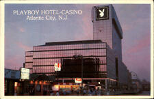 Atlantic City  postcard 1983 Sunset view of the new Palyboy Hotel and Casino