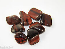 """1/4 lb  RED TIGER EYE  Large 1"""" Bulk Tumbled Stone Metaphysical Healing 4 oz FS"""