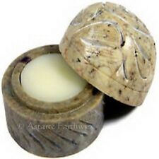 1 x CITRONELLA SOLID PERFUME IN SOAPSTONE1/5oz Wicca Pagan Witch Goth Punk REPEL