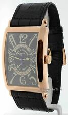 Franck Muller Mens Long Island Retrograde 18K Rose Gold Wrist Watch 1100 DS R