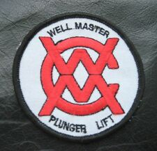 PLUNGER LIFT WELL MASTER EMBROIDERED SEW ON PATCH  NATURAL GAS UNIFORM 3 1/4""