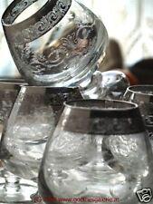 Gläserset MURANO Kristall Silberrand Borte 6 Stk TRAUM!