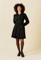Starry Eyed Fit And Flare Dress. Quirky Geek Chic Printed Retro.Size 8-18 Harkel