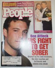 People Magazine Ben Affleck & Pierce Brosnan August 2001 031215R