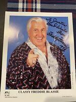 Classy Freddie Blassie (d 2003) Signed WWE Orig 8x10 Promo Photo P283 WWF HOF