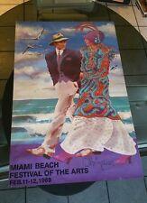 Otto De Souza Aguiar Vintage 1989 Miami Beach Festival of The Arts Litho Poster