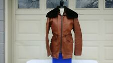 Vtg Ibex of England women's leather Jacket Sz 40 looks like M brown color