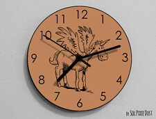Pegasus Unicorn Hand Draw Wall Clock - Kids Nursery Room,Teens Room - Wall Clock