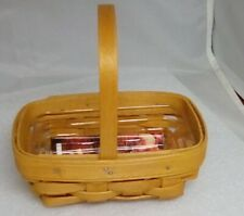 1999 Longaberger Wb Parsley Booking Basket with protector
