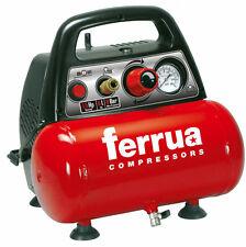 Compressore elettrico per aria compressa portatile oil less 1,5 Hp  8BAR  6 LT