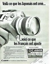 Publicité Advertising 067  1970  Canon  photo auto Zoom 814 Lens