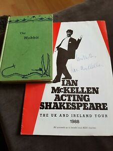 The Hobbit  1965 fifteenth Impression   +Signed IAN McKELLEN  alias Gandalf 1988