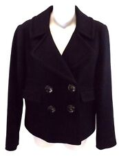 Banana Republic Women's Winter Coat Jacket, Size S, Black Wool Nylon Blend